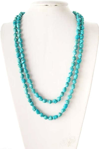 natural in turquoise necklace