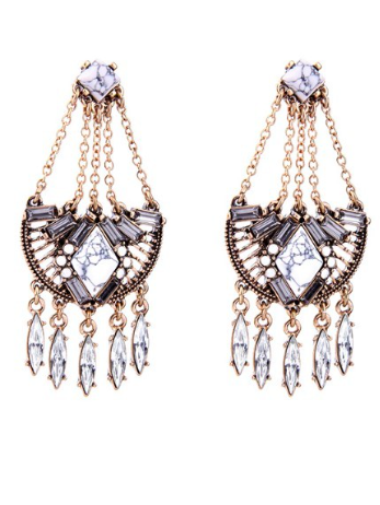 chandelier marbled drops in crystal