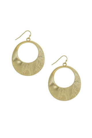 bohemian etched hoops