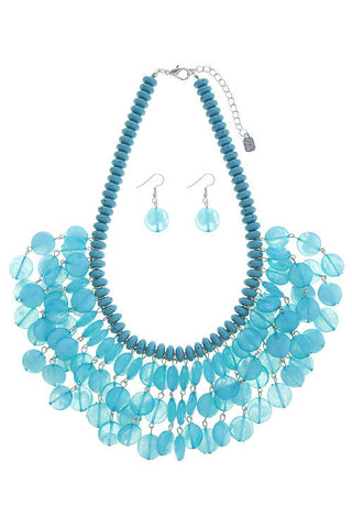 summers beaded fringe in turquoise