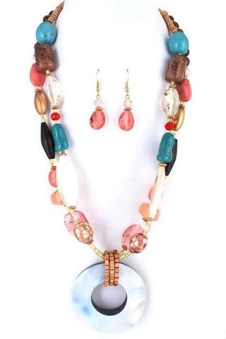 siesta shell necklace set