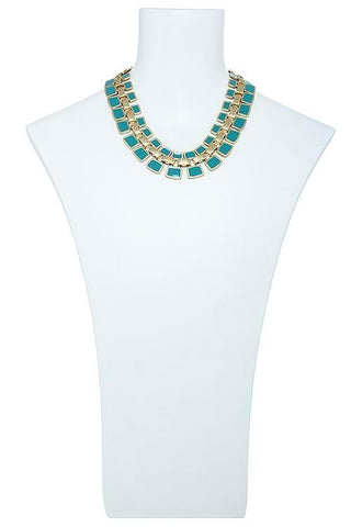 cleo's collar in turquoise