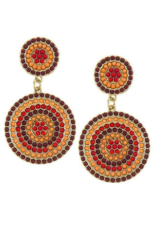 belize beaded statement drops