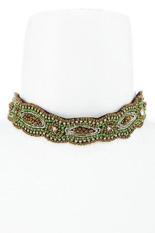 moroccan beaded choker