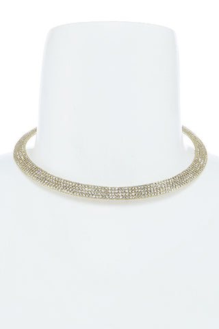 crystal encrusted couture choker