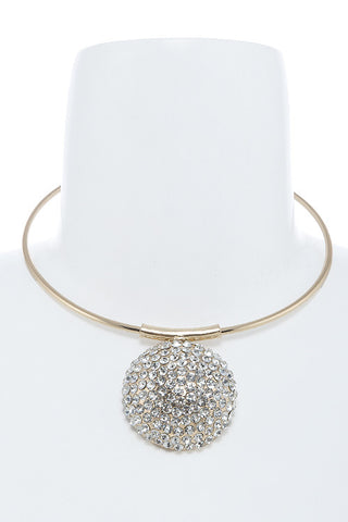 encrusted dome choker
