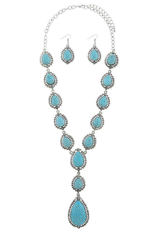 payson teardrop in turquoise set