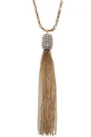 holiday tassel in gold