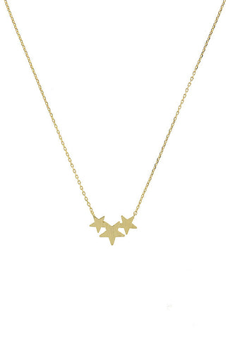 dainty star cluster necklace