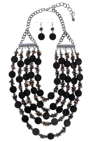 shell accented beaded set