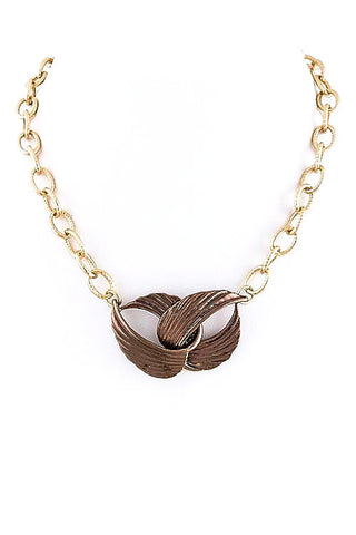 knotted in chocolate necklace