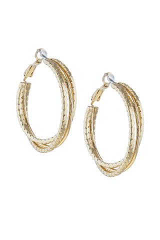intertwined gold hoops