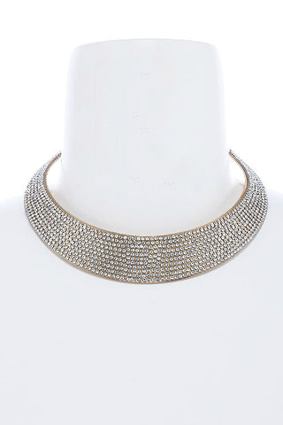 crystal lined choker