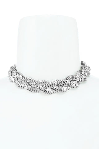 holiday braided choker