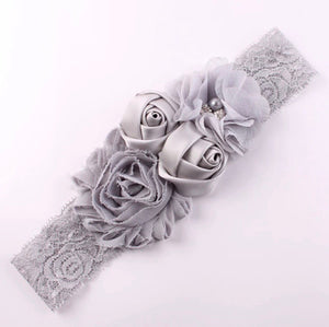Bandana Bayi - Lace Flower Headband