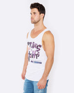 Stars and Night White Singlet