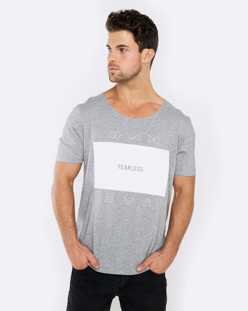 Fear the Logo Marble Grey Tee