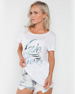 Love Me Fear White Tee