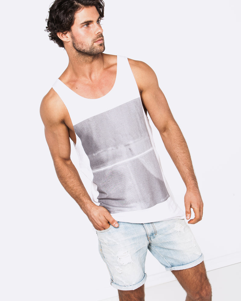 Line of Truth White Singlet