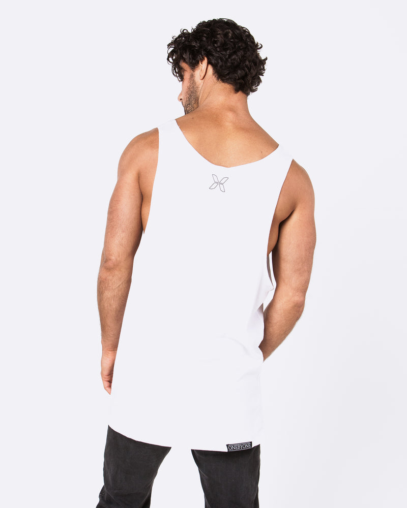 Not From Here White Singlet