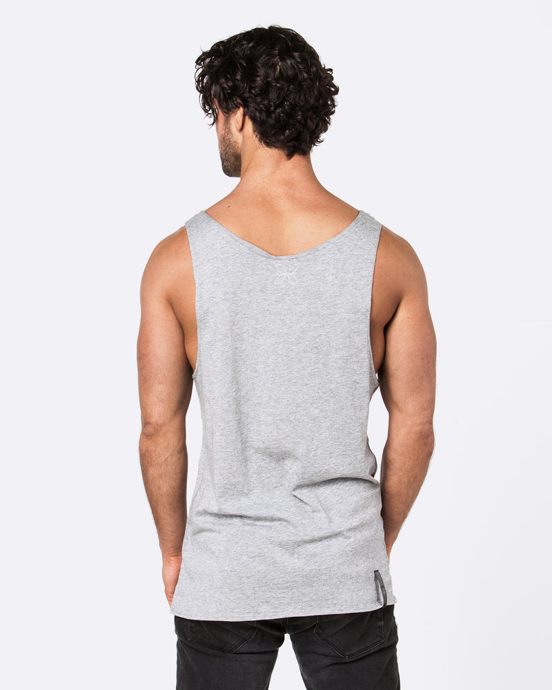 Old Sign Marble Grey Singlet