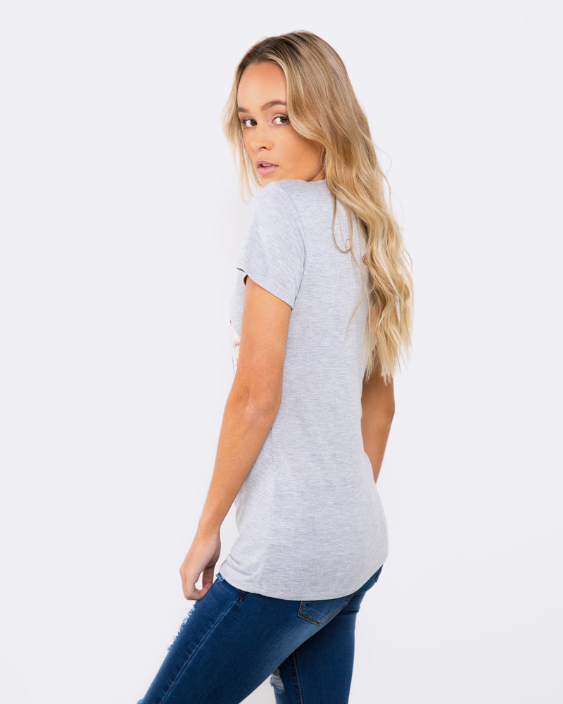 Love for Now Marble Grey Tee