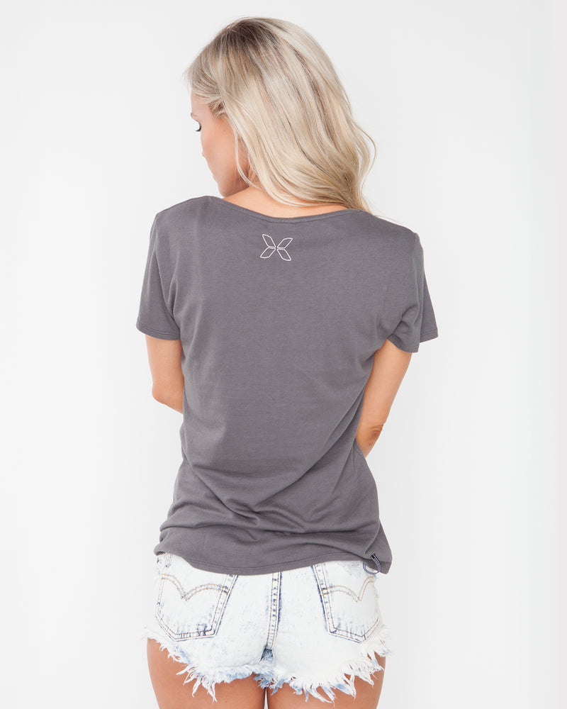 Love For Now Dark Grey Tee
