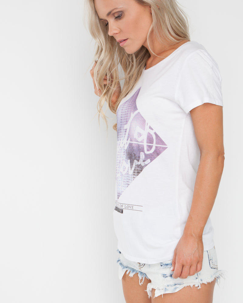 Out of Love White Tee
