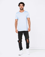Blank Light Blue Tee