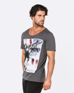 Never to Fall Dark Grey Tee