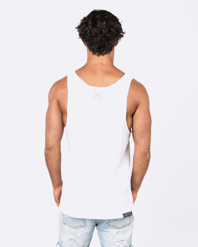 Never to Fall White Singlet