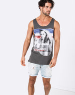 Fade Way Dark Grey Singlet