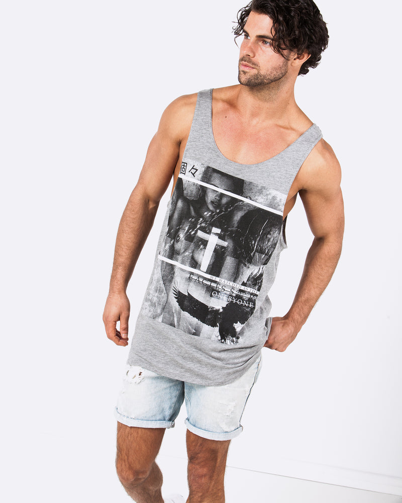 Eagles Soar Marble Grey Singlet