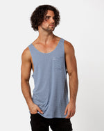 Striped Blue Singlet