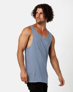 Stripey Blue Singlet