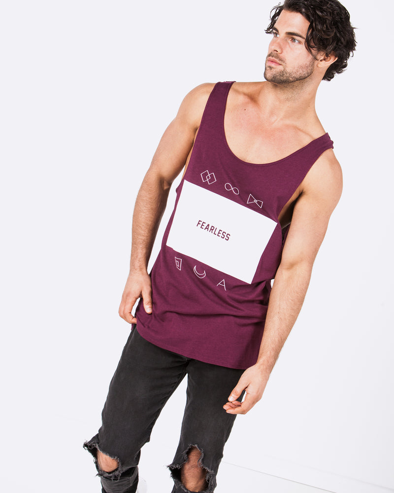 Fear the Logo Maroon Singlet