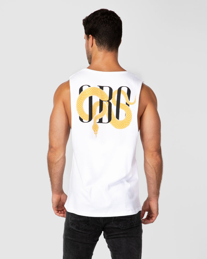 Slither White Tank