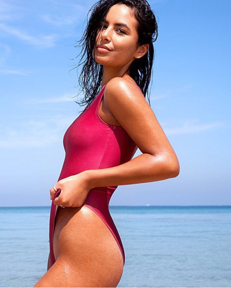 Blank Maroon Swimsuit