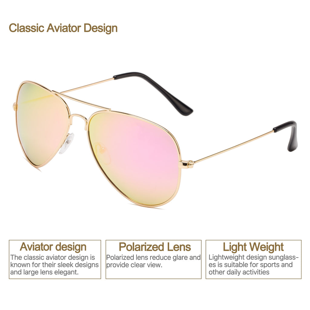 6ab61db224b7 Aviator Polarized Sunglasses Classic Metal Frame TAC Lenses Driving Sun Glasses  Retro Mens Womens Eyewear UV400