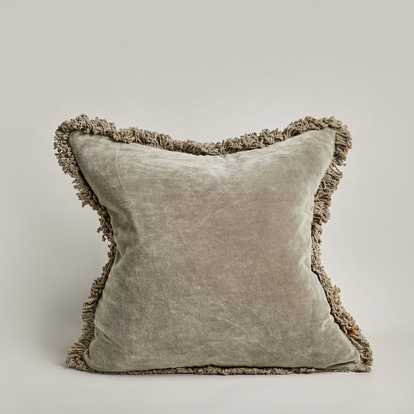 Velvet Square Cushion - Olive