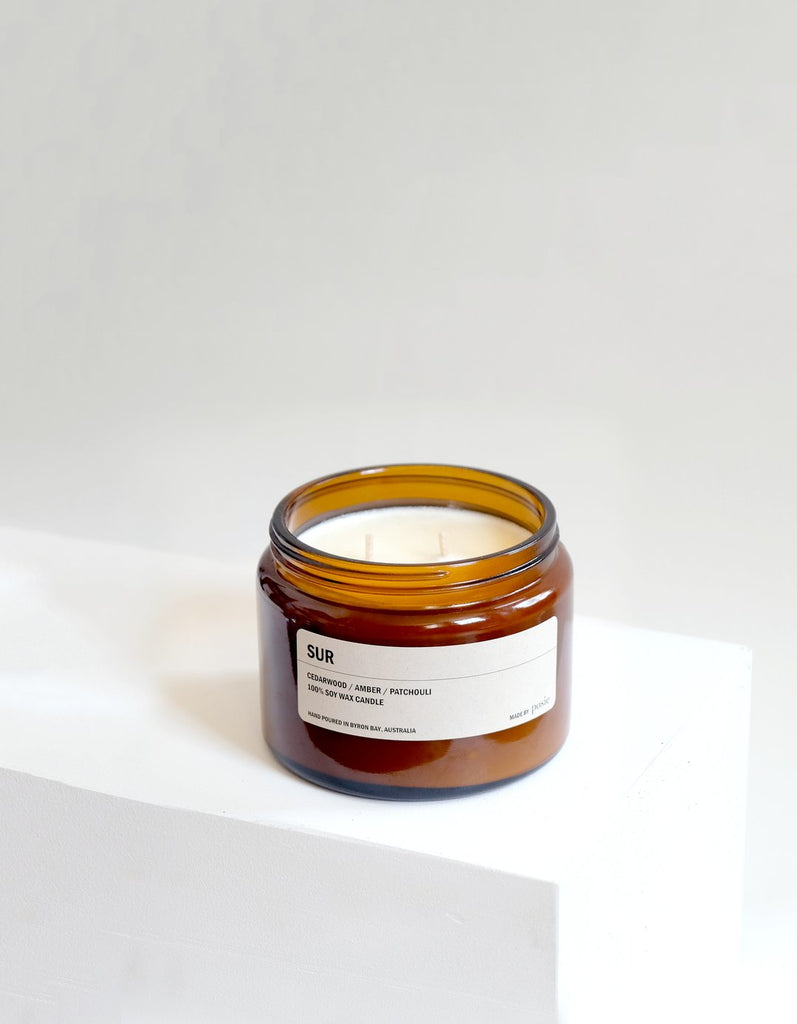SUR: Cedarwood / Amber / Patchouli - Scented Candle 500G