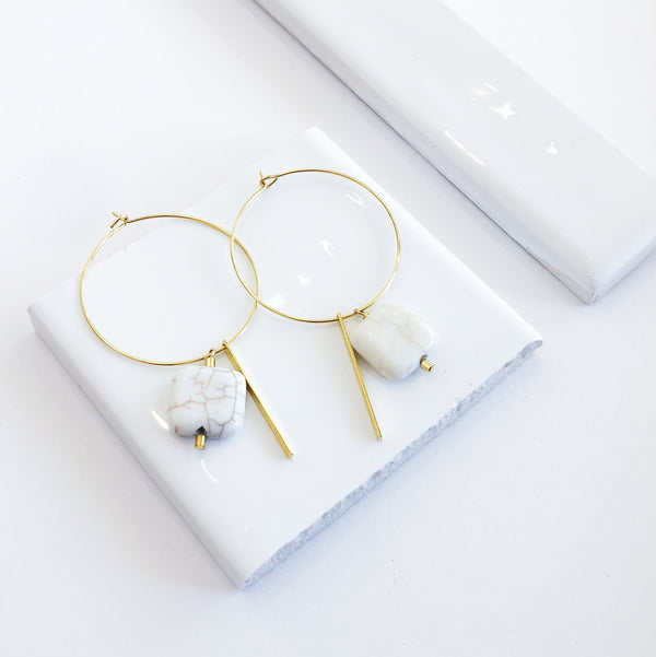 Cabarita Gold Hoop Earrings - LAST ONE!