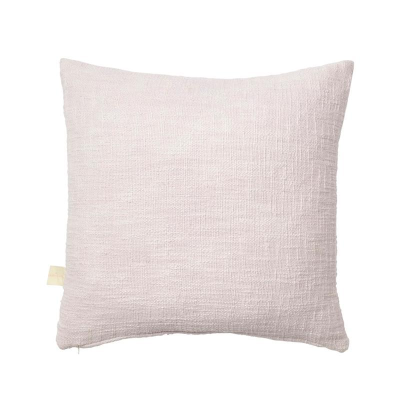 sage and clare - elva pom pom cushion in lilac