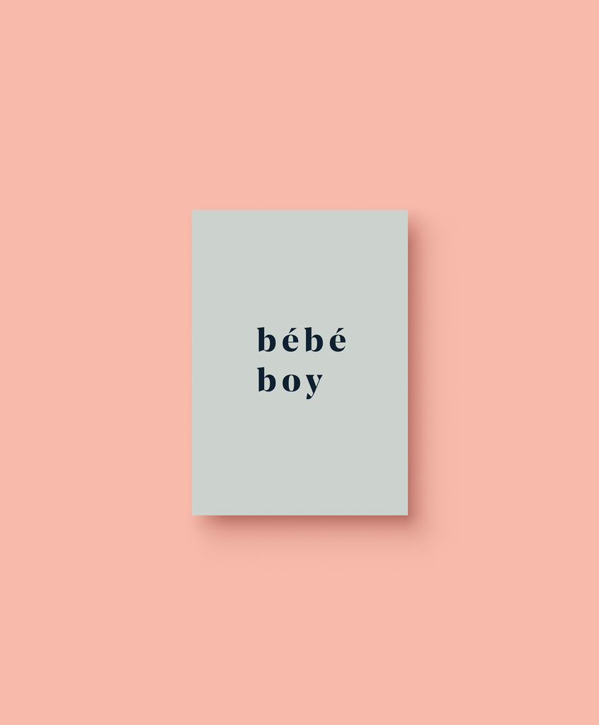 OHEMGEE Paper - Bebe Boy greetings card