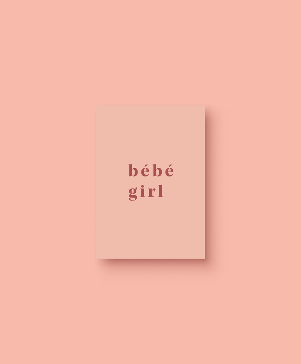 OHEMGEE Paper - Bebe Girl greetings card