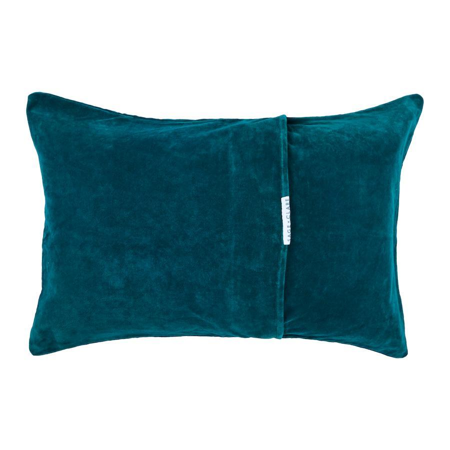 Bedari Velvet Pillowcase - Peacock
