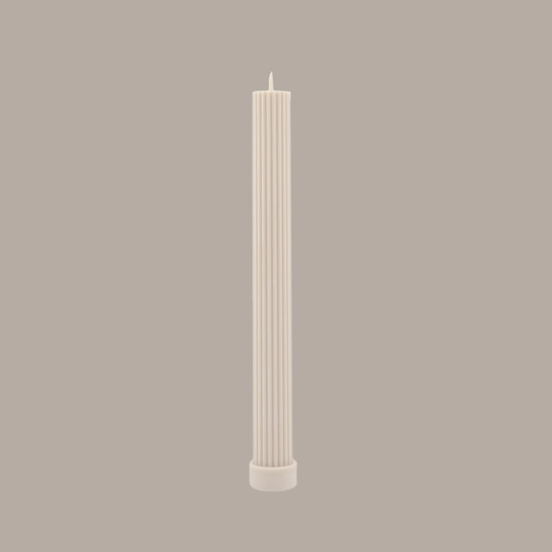 Column Pillar Candle - Cream White