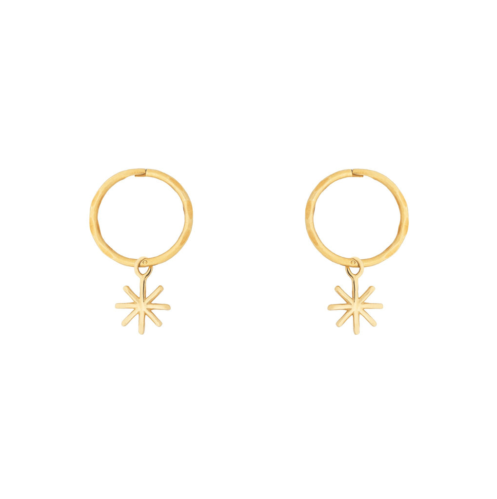 By. G - gold mini starry hoop earrings