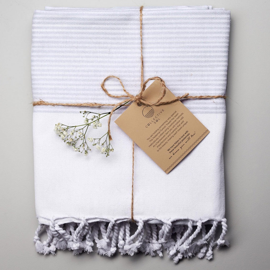 Collective Sol - Coolum Turkish towel in antique grey