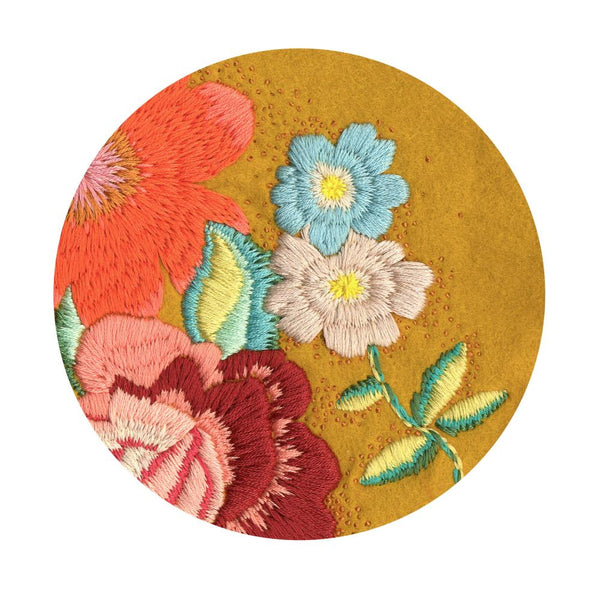 Fleur Woods - embroidered Retro Rose print
